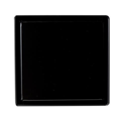 """5"""" x 5"""" Black Matte Square Stainless Steel Shower Drain with Solid Cover"""