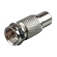 Monoprice RCA Female to F Type Male Adapter - Silver