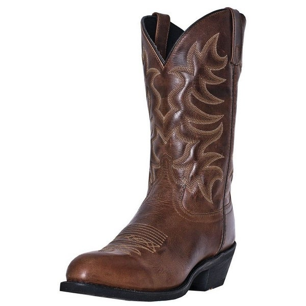 "Laredo Western Boots Mens Pinehurst Cowboy 12"" Shaft R Toe Brown"