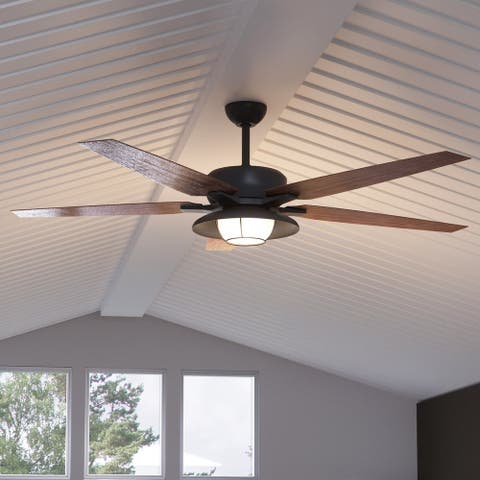 """Luxury Traditional Indoor / Outdoor Ceiling Fan, 17.6""""H x 60""""W, with Traditional Style, Olde Bronze, UHP9172 by Urban Ambiance"""