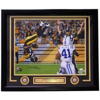 Antonio Brown Signed Framed 16x20 Pittsburgh Steelers Flip Catch Photo JSA