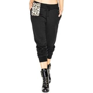 Guess Womens Lounge Pants Cotton Studded