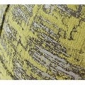 "G Home Collection Luxury Lemon Yellow Mix Color Metallic Chenille Pillow 22""X22"" - Thumbnail 3"