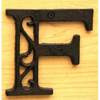 Cast Iron Letter F