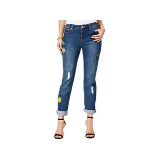 The Edit Womens Juniors Seventeen Skinny Jeans Denim Patchwork - 11