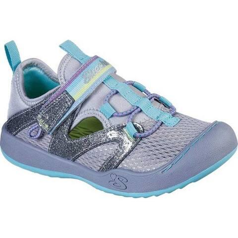 Skechers Girls' Summer Steps 2.0 Closed Toe Sandal Gray/Multi