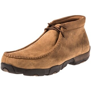 Twisted X Work Shoes Mens Waterproof Driving Mocs Saddle