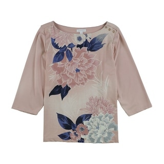 Link to Charter Club Womens Floral Pullover Blouse Similar Items in Tops