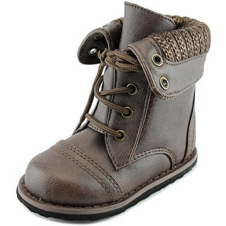 Sarah Jayne Willow Youth Round Toe Synthetic Brown Ankle Boot