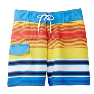 Azul Boys Orange Yellow Blue Sunset Breeze Print Board Shorts