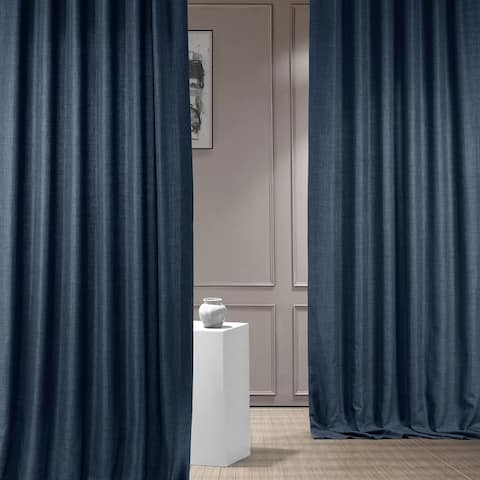 Exclusive Fabrics Italian Faux Linen Curtain