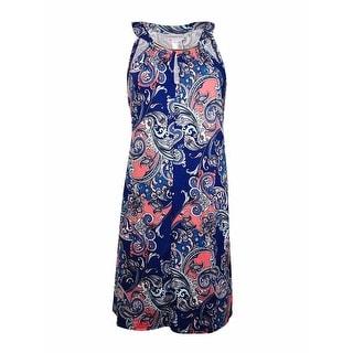 Dotti Women's Halter Metal Embellished Dress Coverup
