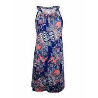 Dotti Women's Halter Metal Embellished Dress Coverup - multi