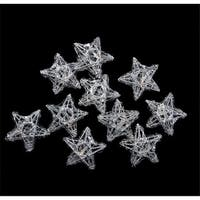 LED Lighted Battery Operated Spun Glass Star Christmas Lights - War
