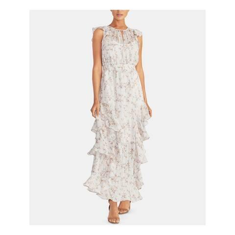 RACHEL ROY Womens Gray Printed Sleeveless Maxi Formal Dress Size 12