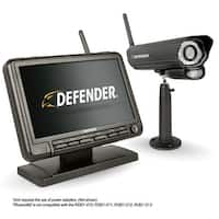 """Defender PHOENIXM2 Digital Wireless 7"""" Monitor DVR Security System with Night Vision Camera and SD Card Recording"""