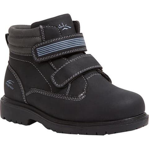 Deer Stags Boys' Marker Boot Black/Grey Simulated Leather