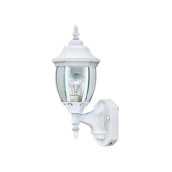 "Designers Fountain 2420MD-WH 1-Light 6.5"" Wall Lantern with Motion Detector - White - N/A"