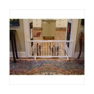 """Cardinal Gates Step Over Free Standing Pet Gate White 28"""" - 51.75"""" x 2"""" x 20"""""""
