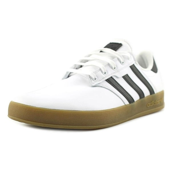 Adidas Seeley Cup Men Round Toe Suede White Sneakers
