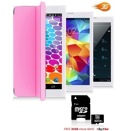 Indigi® Unlocked 3G (2-in-1) SmartPhone & TabletPC w/ Built-In SmartCover + Bluetooth Sync + WiFi + 32gb microSD(Pink)