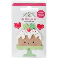 Doodlebug Doodle-Pops 3D Stickers-Milk & Cookies Christmas Cake