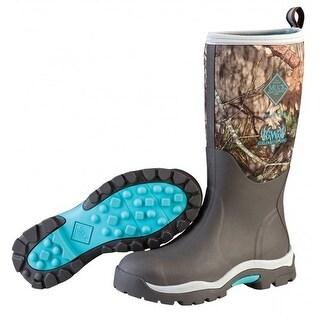 Muck Boots Bark/Mossy Oak Break Up/Teal Women's Woody PK Boot - Size 6