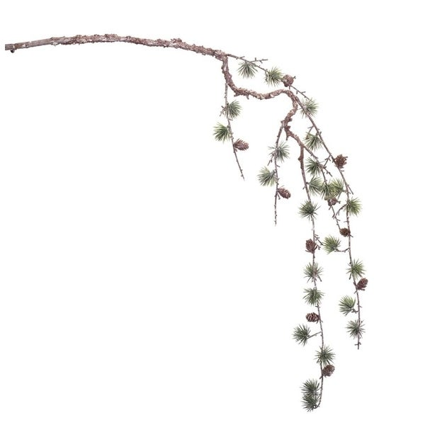"""Club Pack of 12 Branches with Pine and Pine Cones Christmas Decorations 44"""" - brown"""