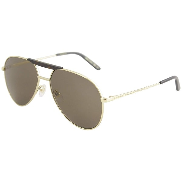 ddc62073a99 Gucci Brown Aviator Sunglasses Gg0242S 002 59 - GOLD-GOLD-BROWN - One Size