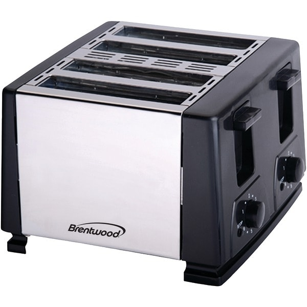 BRENTWOOD TS-284 4-Slice Toaster (Black)