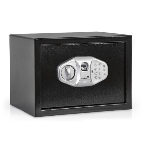 Ivation IVAFINGSAFE15 Electronic Biometric Fingerprint Safe for Guns, Valuables & Manuscripts Fingerprint Sensor