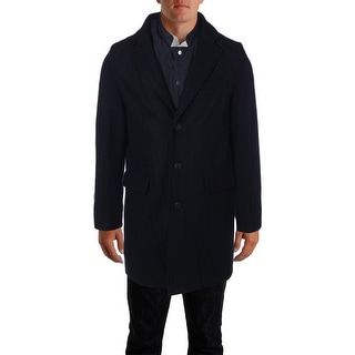 Elie Tahari Mens Coat Wool Quilted