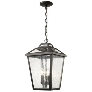 Zlite 539CHB-ORB 11 x 11 x 19 in. Bayland Oil Rubbed Bronze Outdoor Hanging