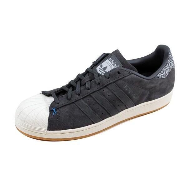 Adidas Men's Superstar Grey Suede/White-BlueB27573