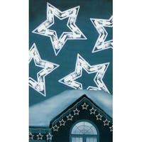 Set of 10 Clear Twinkling Star Icicle Christmas Lights - White Wire