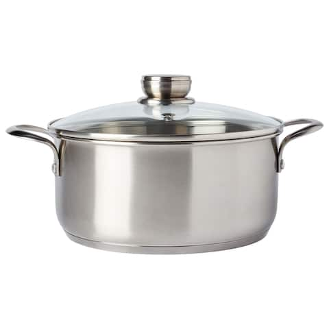 Frigidaire Ready Cookware 5Qt Stainless Steel Dutch Oven