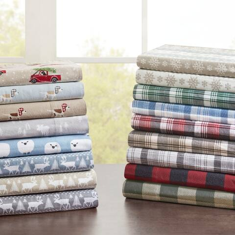Woolrich Flannel Cotton Flannel Printed Bed Sheet Set