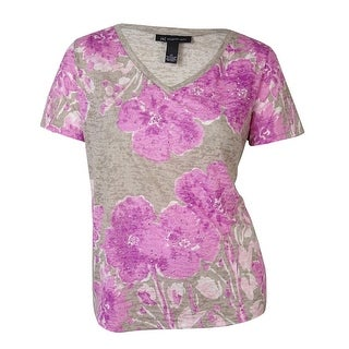 INC International Concept Women's Floral Print Tee