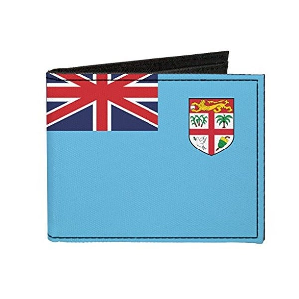 Buckle-Down Canvas Bi-fold Wallet - Fiji Flag Accessory