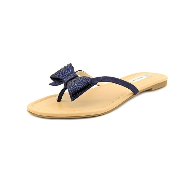 INC International Concepts Maey Women Open Toe Synthetic Blue Thong Sandal