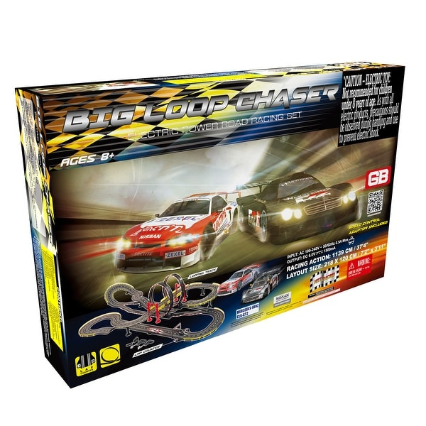 Big Loop Chaser Road Racing Slot Car Set - Electric Powered. Opens flyout.