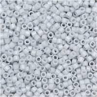 Miyuki Delica Seed Beads, 11/0 Size, 7.2 Gram Tube, 209 Opaque Light Grey Luster