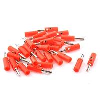 Audio Speaker Cable Wire 4mm Banana Plug Connector Adapter Red Silver Tone 30pcs