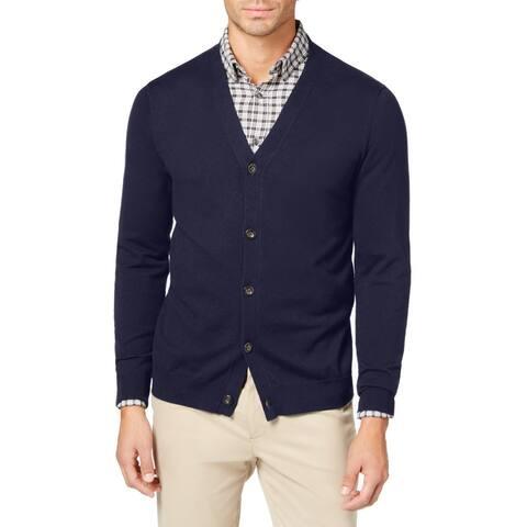 Club Room Men Sweater Blue Size 3XL Big & Tall Button Up V-Neck Cardigan