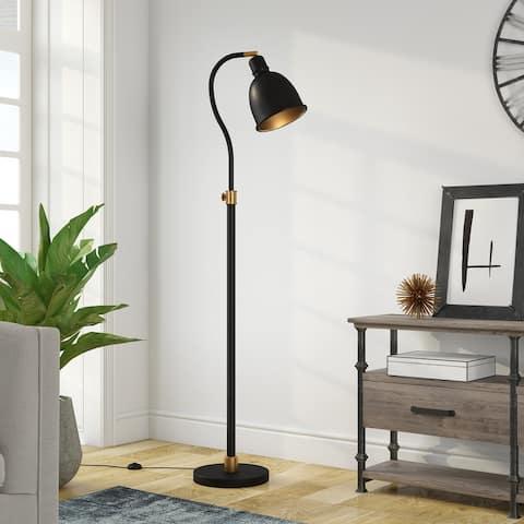 Vincent Blackened Bronze Arc Lamp