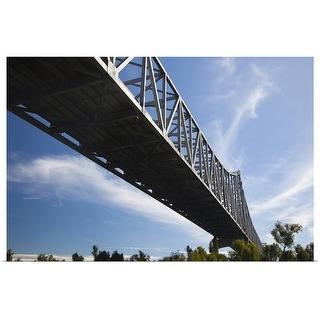 """Mississippi River Bridge, Mississippi River"" Poster Print"