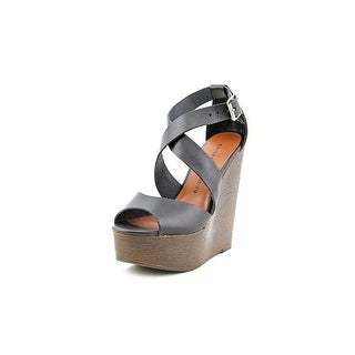 Chinese Laundry Java Open Toe Leather Wedge Sandal