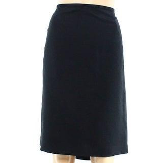 Le Suit NEW Black Women Size 16P Petite Straight Vented-Hem Pencil Skirt