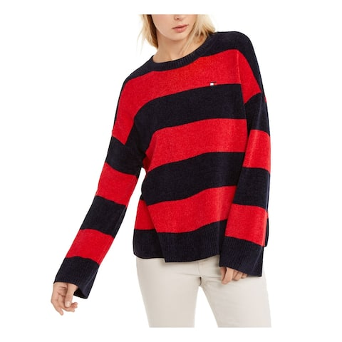TOMMY HILFIGER Red Long Sleeve Blouse Sweater XL
