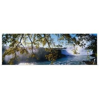 Poster Print entitled Horseshoe Falls Niagara Falls NY - Multi-color